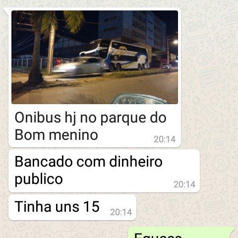 Foto enviada aos grupos de whatsapp no inicio do showmício de Dilma na Praça Deodoro, centro de São Luís