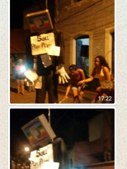 Texto e fotos enviados pelo whtsApp